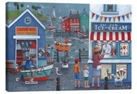 Canvas print  Seaside icecreams - Peter Adderley