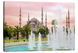 Canvas print  the blue mosque (magi cami) in Istanbul / Turkey (vintage picture) - gn fotografie