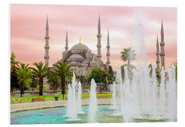 Foam board print  the blue mosque (magi cami) in Istanbul / Turkey (vintage picture) - gn fotografie