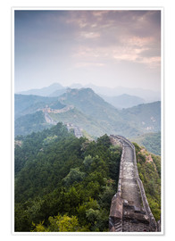 Premium poster  Great Wall of China in fog - Matteo Colombo