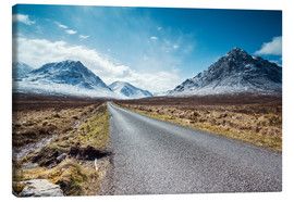 Canvas print  Road to the Highlands, Scotland, UK - Matteo Colombo