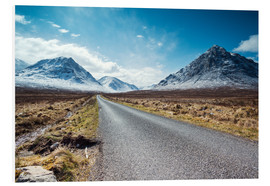 Foam board print  Road to the Highlands, Scotland, UK - Matteo Colombo