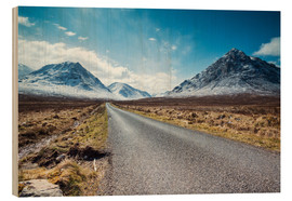 Wood print  Road to the Highlands, Scotland, UK - Matteo Colombo