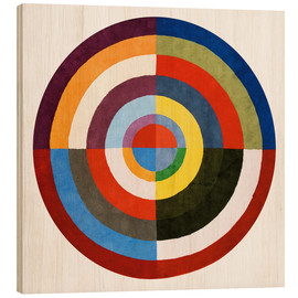 Wood print  First Disk - Robert Delaunay