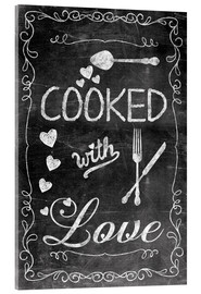 Acrylic print  Cooked with Love - Andrea Haase