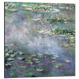 Aluminium print  Waterlily pond - Claude Monet