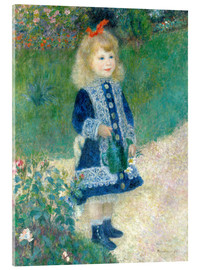 Acrylic print  Girl with watering can - Pierre-Auguste Renoir
