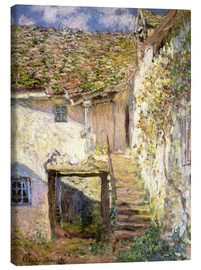 Canvas  The staircase - Claude Monet