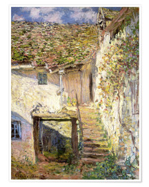 Premium poster  The staircase - Claude Monet
