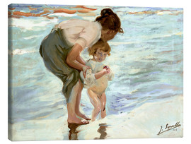 Canvas print  Mother and child on the beach - Joaquin Sorolla y Bastida