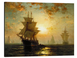 Aluminium print  Sailboats at sunset - Edward Moran