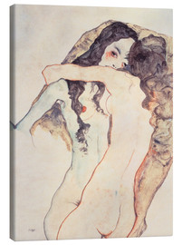 Canvas print  Two women in embrace - Egon Schiele