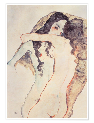 Premium poster Two women in embrace