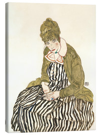 Canvas print  Edith Schiele sitting - Egon Schiele