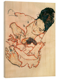 Wood print  Nursing Mother (Stephanie Gruenwald) - Egon Schiele