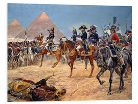 Foam board print  Kaiser Napoleon I. in Ägypten am 21. Juli 1798. 1911 - Richard Caton Woodville
