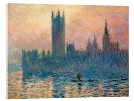Acrylic glass  Parliament in London at sunset - Claude Monet