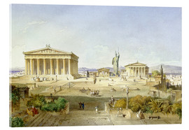 Acrylic print  The Acropolis at Pericles' time - Ludwig Lange