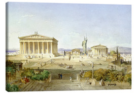 Canvas print  The Acropolis at Pericles' time - Ludwig Lange