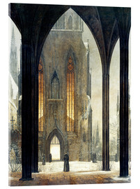 Acrylic print  Cathedral in Winter - Ernst Ferdinand Oehme