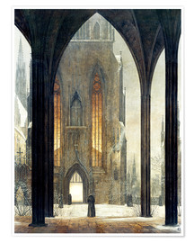 Premium poster  Cathedral in Winter - Ernst Ferdinand Oehme