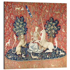 Aluminium print  The Lady and the Unicorn: The sense of sight