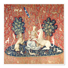 Premium poster  The Lady and the Unicorn: The sense of sight