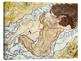 Canvas print  The Embrace - Egon Schiele