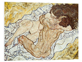 Foam board print  The Embrace - Egon Schiele