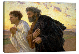 Canvas  Morning of the resurrection, Peter and John on their way to the grave - Eugene Burnand