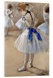 Acrylic print  Dancer tying the loop - Edgar Degas