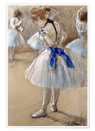Premium poster  Dancer tying the loop - Edgar Degas