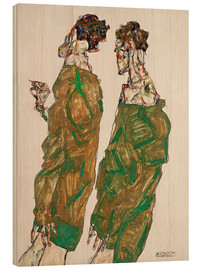 Wood print  Devotion - Egon Schiele