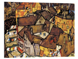 Foam board print  Houses in Krumau - Egon Schiele