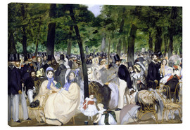 Canvas print  Music in the Tuileries - Edouard Manet
