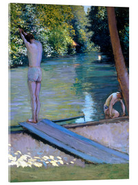 Acrylic print  Bathers on the banks of the Yerres - Gustave Caillebotte