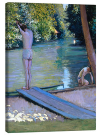Canvas print  Bathers on the banks of the Yerres - Gustave Caillebotte