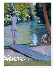 Premium poster Bathers on the banks of the Yerres