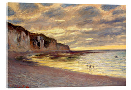 Acrylic print  Low tide at Pointe de L'Ailly - Claude Monet