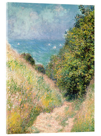 Acrylic print  Narrow pass near Pourville - Claude Monet