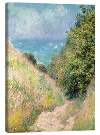 Canvas print  Narrow pass near Pourville - Claude Monet