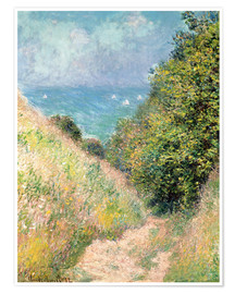 Premium poster  Narrow pass near Pourville - Claude Monet