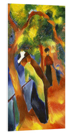 Foam board print  Sunny path - August Macke