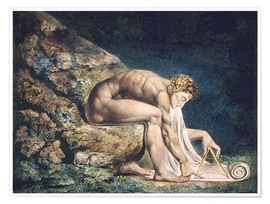 Premium poster  Isaac Newton - William Blake
