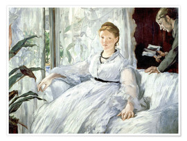 Premium poster  Madame Manet and her son Léon - Edouard Manet
