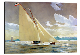 Aluminium print  The sailing boat Henny III. - Willy Stöwer
