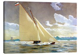 Canvas  The sailing boat Henny III. - Willy Stöwer