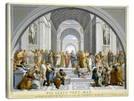 Canvas print  School of Athens (after Raphael) to 1771-79 - Giovanni Volpato