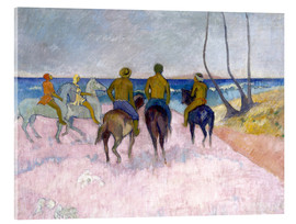 Acrylic print  Riders on the beach (I) - Paul Gauguin