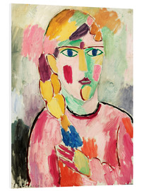 Foam board print  Girl with blue eyes and braid - Alexej von Jawlensky